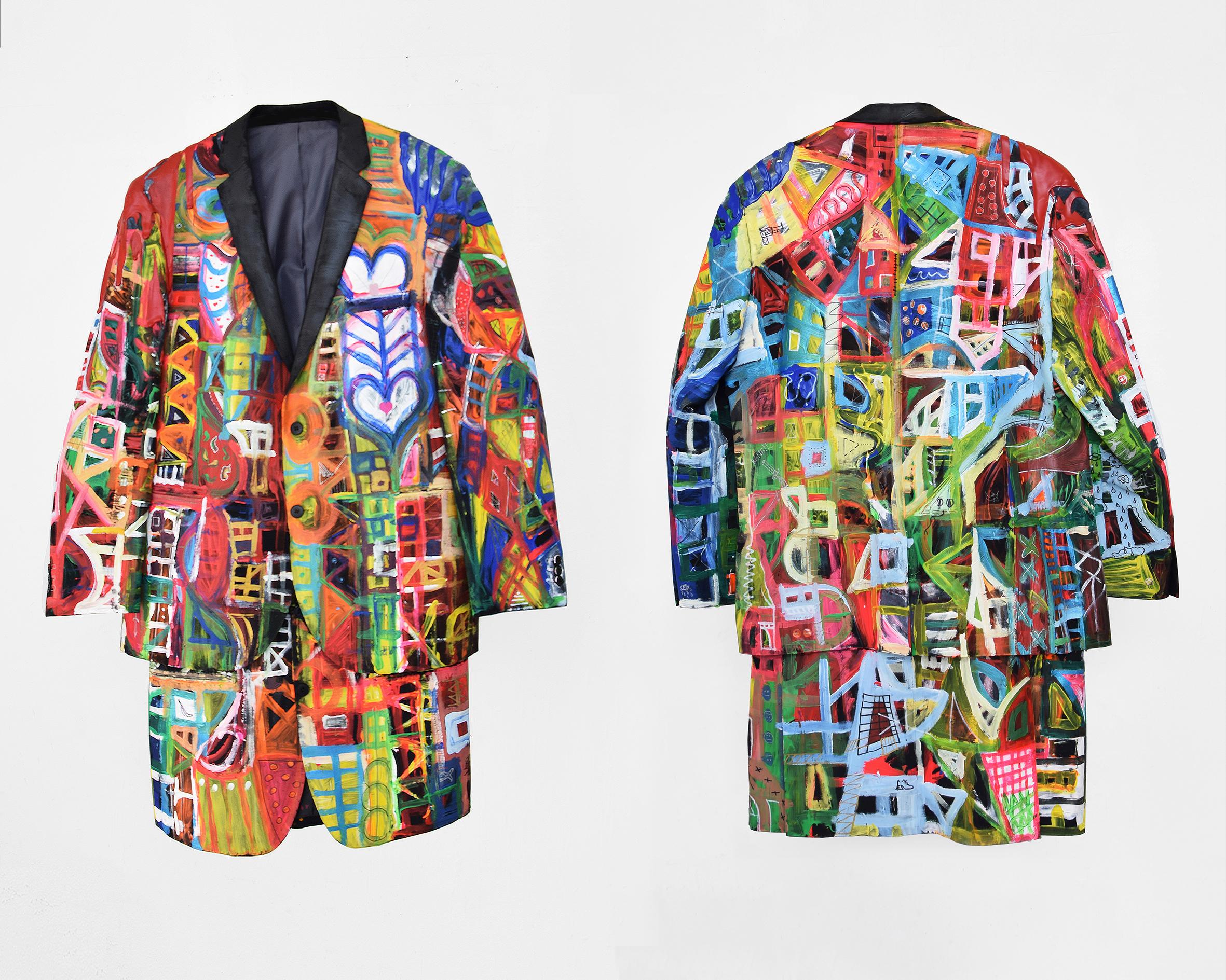 Vestito di Luca cuore Luca Bosani 2017 Painthing