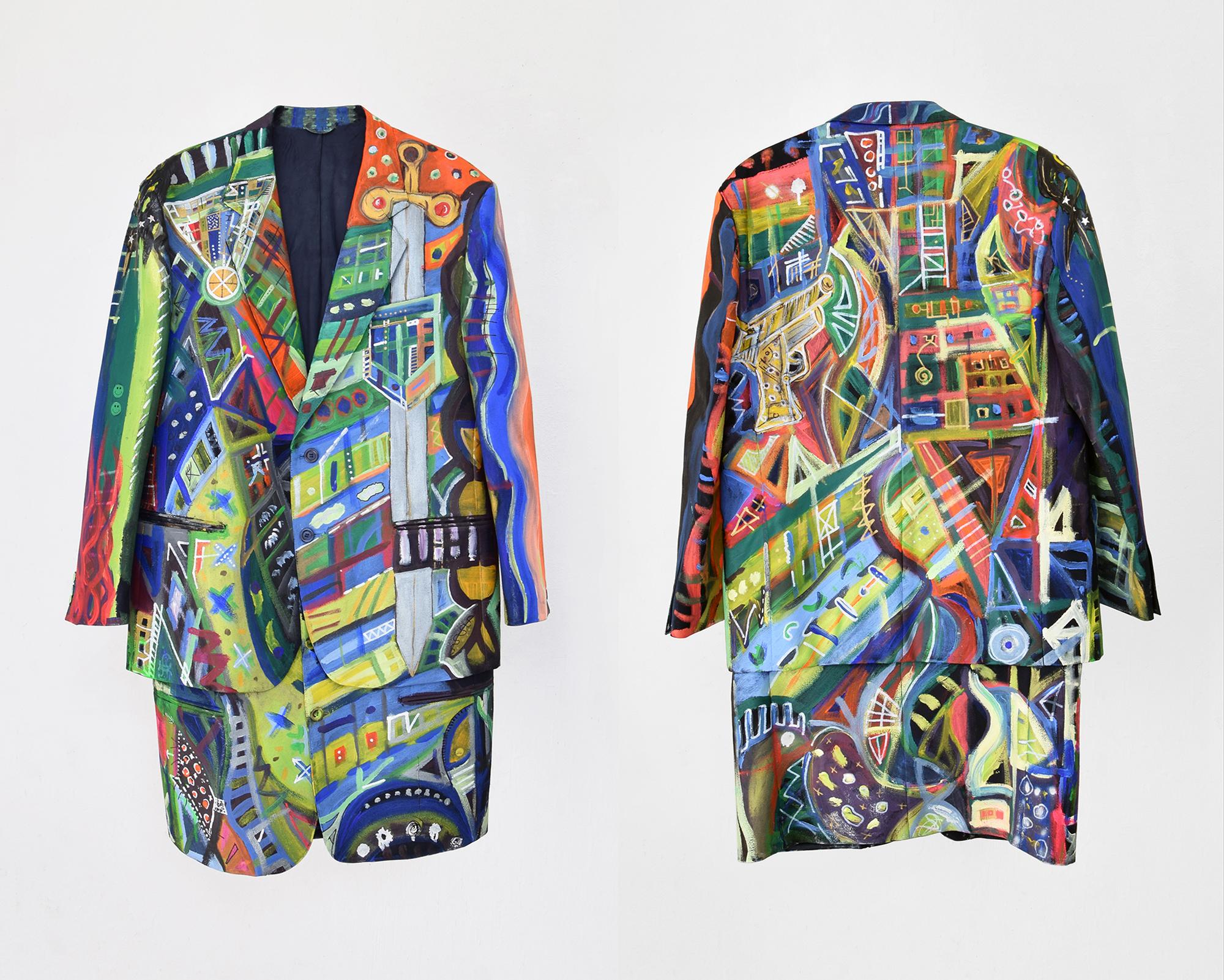 Vestito di Luce (spada) Luca Bosani 2017 Painthing
